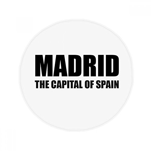 DIYthinker Madrid The Capital Of Spain Anti-slip Floor Pet Mat Round Bathroom Living Room Kitchen Door 60/50cm Gift by DIYthinker