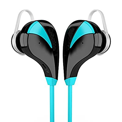 Bluetooth 4.0 Headset Stereo Earphones Wireless Earset Earbuds Sweatproof Sports Running Headphones with Microphone For Andorid IOS Mobile Phones 3D music experience Smart Voice Control