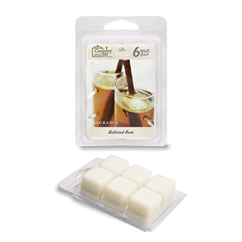 Rum Wax Melts, 2.75 oz. 6-Cube Pack / Natural Soy (Half Pillar Candle)