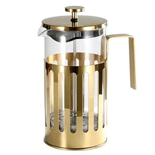 HYJBGGH Cafeteras de émbolo Cafetera Francesa, Dispositivo De Preparación De Té Multifuncional, Prensa De Café De Acero…
