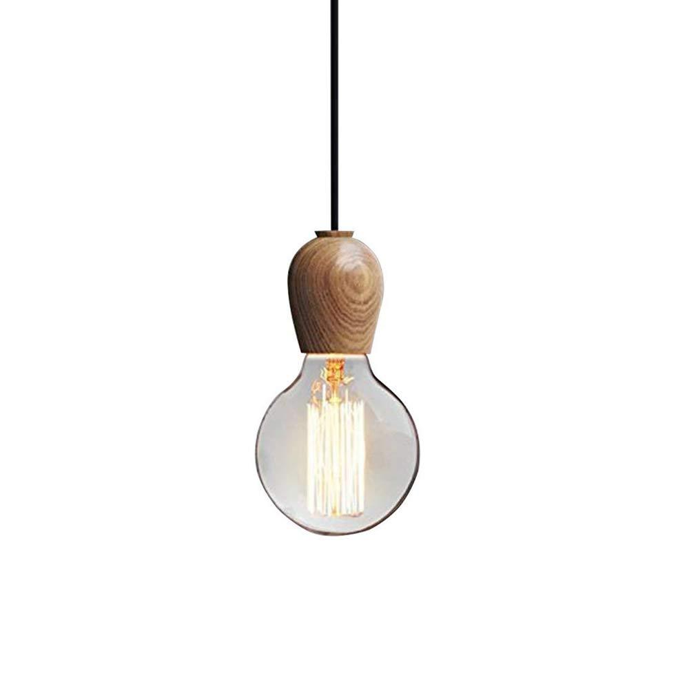 INJUICY Industrial Wooden Pendant Lights, Vintage Ceiling Lamps for Living Room, Children's Bedroom, Dining Room, Cafe
