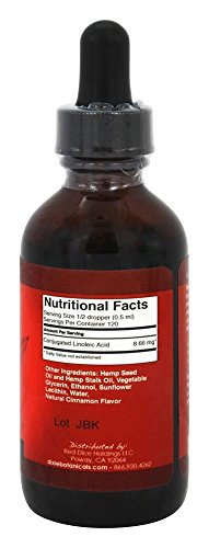 Dixie-Hemp-Extract-Oil-with-Conjugated-Linoleic-Acid-CLA-Cinnamon-Flavor-2oz60ml-Hemp-Supplement
