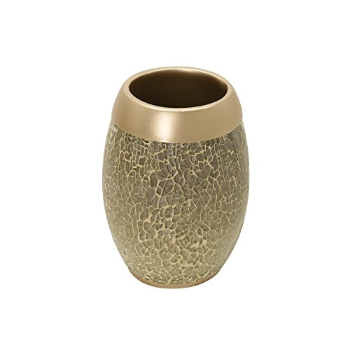 Zenna Home 172950785Z India Ink Huntington Tumbler, Gold Cracked Glass/Champagne by Zenna Home