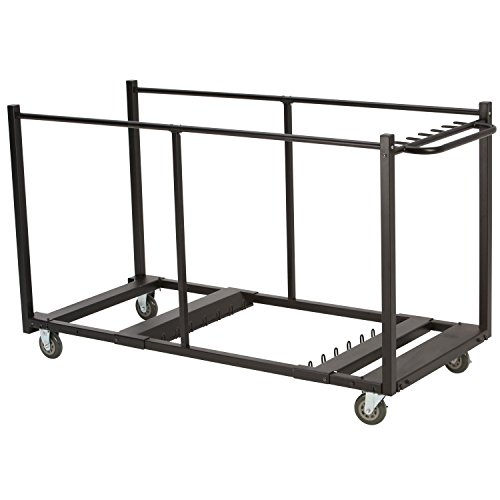 (Lifetime 80193 Table Cart with Heavy Duty Steel, Black Sand Finish)