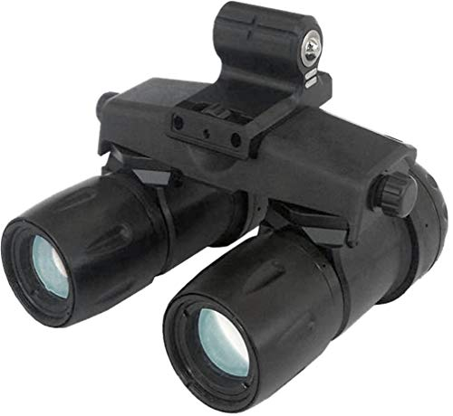 """PRG Defense 12AA9123353011 Model Apache A-9 Aviator Night Vision Goggle System Gen 3+""""Level 1"""", 40° Field of View, 1.0X Magnification, 1.3cy/mR Minimum System Resolution, 10° Tilt Adjustment"""