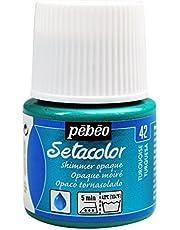 Pébéo 295042 - Colore ad Acquerello Setacolor Opaco, 45 ml, Turchese marezzato