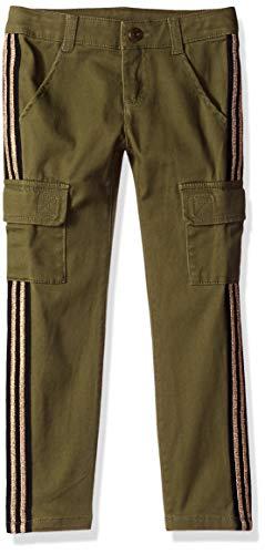 Crazy 8 Girls' Big Cargo Pants, Four Leaf Clover, 14