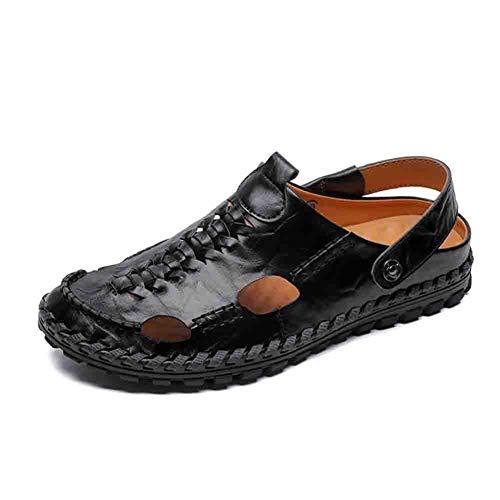 Piede Black Ciclo Escursionismo Uomini Estate Del Casuale Comfort Continuo Chiuso Dito Sandali Per Pelle All'aperto Pantofola Baotou 41 qw4tFangU