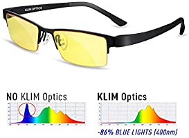 ⭐️ KLIM Optics Blue Light Blocking Glasses - High protection for screen - Blue Blocker Gaming Glasses PC Mobile TV - Anti...
