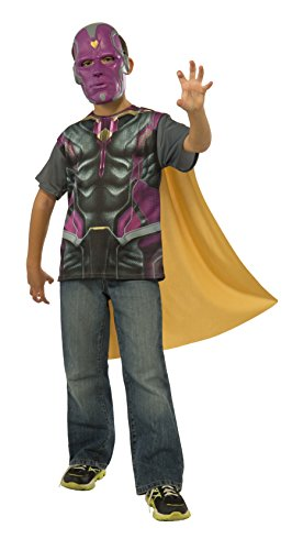 Rubie's Costume Avengers 2 Age of Ultron Child's Vision T-Shirt/Cape and Mask, Medium