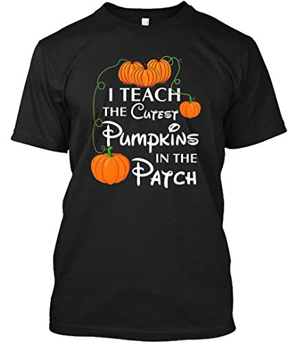 I Teach The Cutest Pumpkins in The Patch 3XL - Black Tshirt - Hanes Tagless Tee -