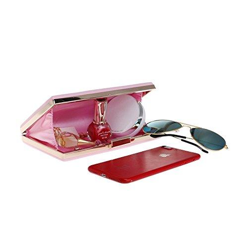 Clubs Wedding Prom Party Leather For Evening Bag Gift Shoulder Envelope Purse Clutch Handbag PU Bridal Ladies Bag Women Pink Z7qO6wx