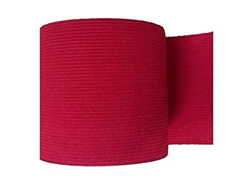 3 Inch Elastic - Ninepeak Braided Elastic, Red, 5-Yard by 3-Inch
