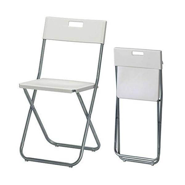 Ikea Gunde Sedia pieghevole, colore: bianco