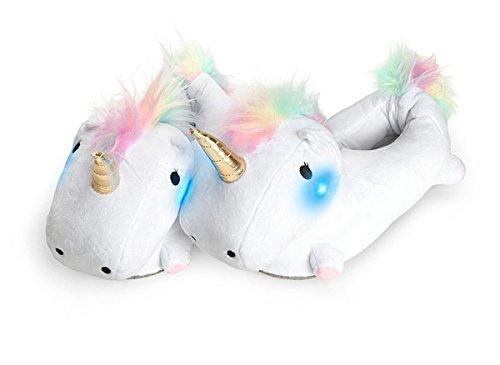Smoko Unicorn Light Up Slippers