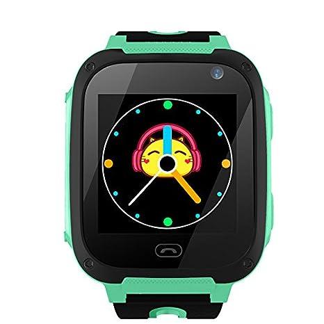 New_Soul TDH GPS Digital de Reloj Inteligente Sos Smartwatch con Camara Niño Nocturna Pantalla Táctil Anti
