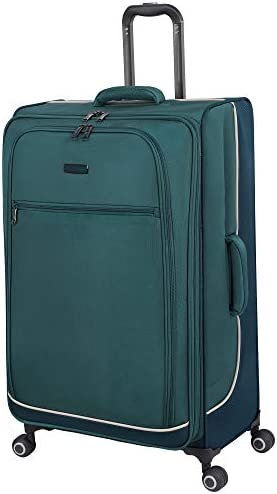 it baggage Encircle Softside Expandable Spinner, Teal Blue, Checked-X-Large 32-Inch