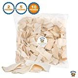 123 Treats - Rawhide Chips thick Dog Chews (10 Pounds) 100% All-Natural Grass-Fed Free-Range Beef Hide for Dogs with No Hormones, Additives or Chemicals