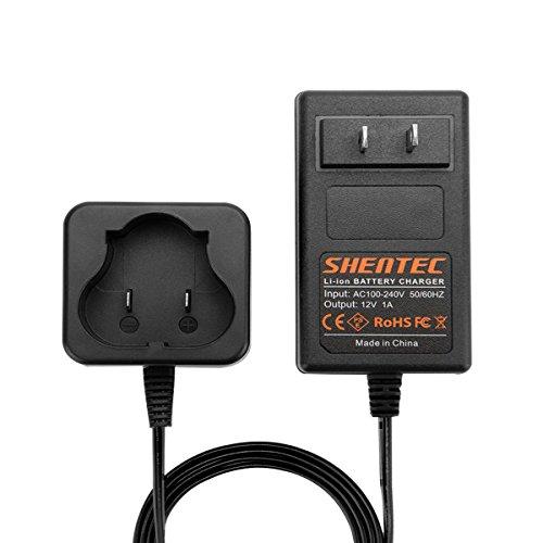 Shentec 12V Lithium Battery Charger Compatible with Black and Decker 12V BL1110 BL1310 BL1510 LB12 LBX12 LBXR12 Pod Style Battery (Best 12v Lithium Battery)