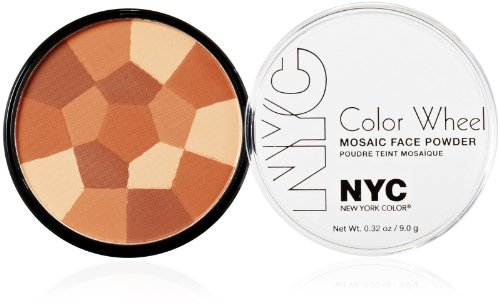 New York Color Wheel Mosaïque Poudre pour le visage , All Over Glow Bronze , 0,32 once