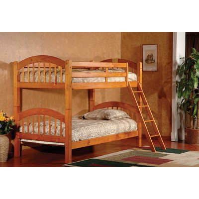 (InRoom Designs Twin Over Twin Arched Bunk Bed Finish: Honey Oak )