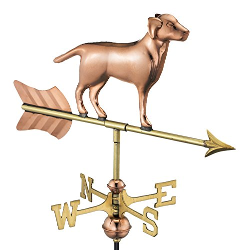 Good Directions Labrador Retriever/Dog Garden Weathervane, Includes Garden Pole, Pure Copper