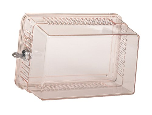 Thermostat Guard - Lux Products BB3001-004 Large Locking Thermostat Guard, Clear