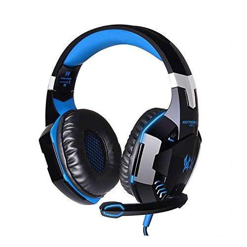 kotton cada G2000Stereo Gaming Headset para PS4, Xbox One, Bass–Auriculares de diadema con micrófono, control de...