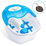 Ivation Foot Spa Massager - Heated Bath, Manual Massage Rollers, Vibration and Bubbles - 105°-108° F - Pumice Stone Included