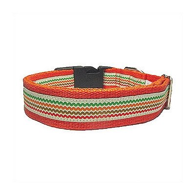 Cotton Rick Rack Dog Collar Size: Small