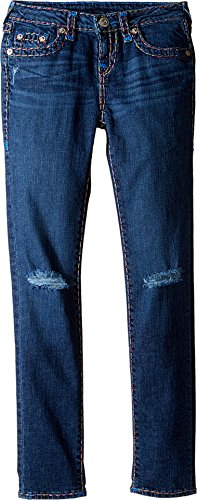 True Religion Kids Girl's Casey Rainbow Combo Super T Jeans (Big Kids) Planet Blue Wash Jeans