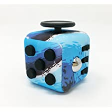 CPEI Mini Fidget Cube Stress Cube, Relieves Stress And Anxiety Toy Fidget Cube fidget spinner (Ocean Blue, Same Size)