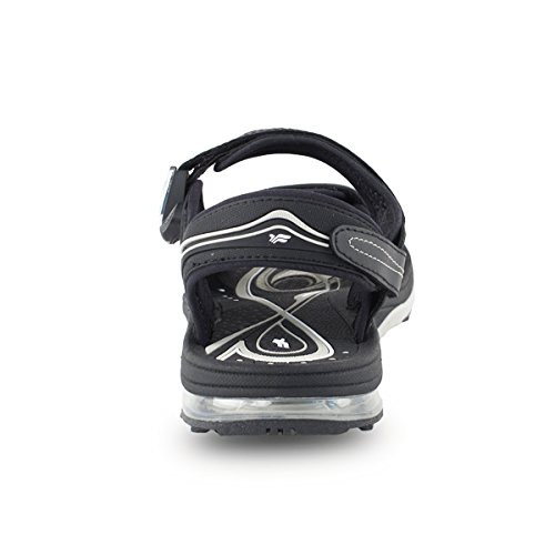 Gold Pigeon Shoes GP7678 Men Women Air Max Outdoor/Water Sandals, Snap Lock Closure (Colors: Blue/Black/Purple) Black
