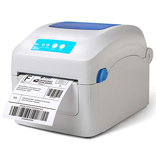 Fangtek Shipping Label Printer - Direct Thermal High Speed Printer - Compatible with Amazon, eBay, Etsy, Shopify - 4×6 Label Printer & Multifunctional Printing - Compare to Dymo 4XL (Manual Printer Zebra User)