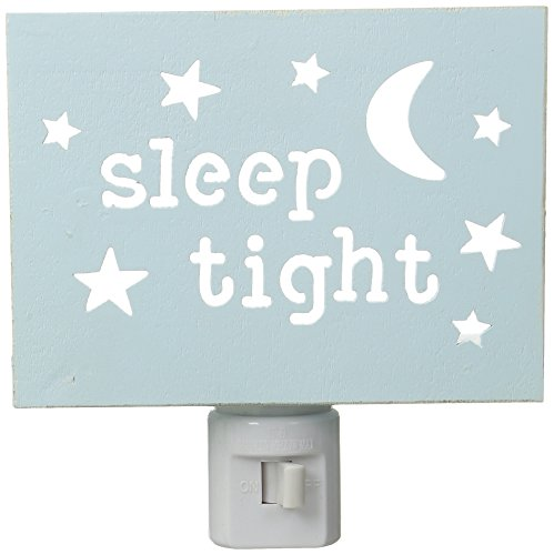 Mud Pie Baby Moon and Stars Cut Out Wood Night Light, Blue by Mud Pie (Image #3)