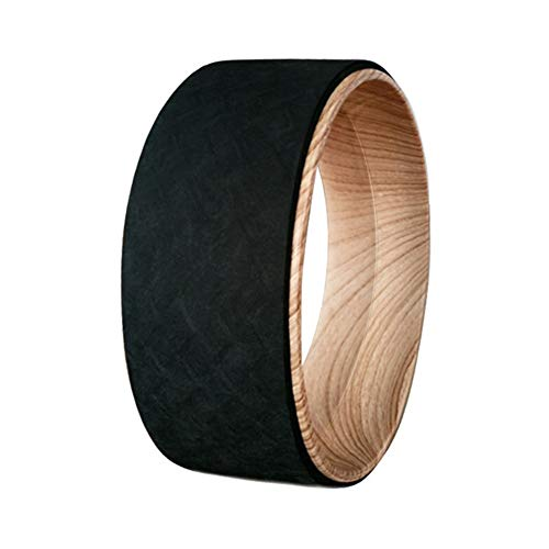 EEPIRR Dharma Yoga Wheel for Stretching and Yoga Strap Yoga Roller Wheel 12 Inch Wood for Back Pain and Exercise by EEPIRR