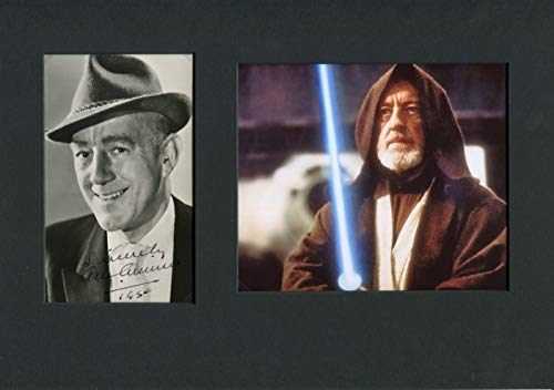 STAR WARS Alec Guinness OSCAR autograph, signed vintage photo mounted