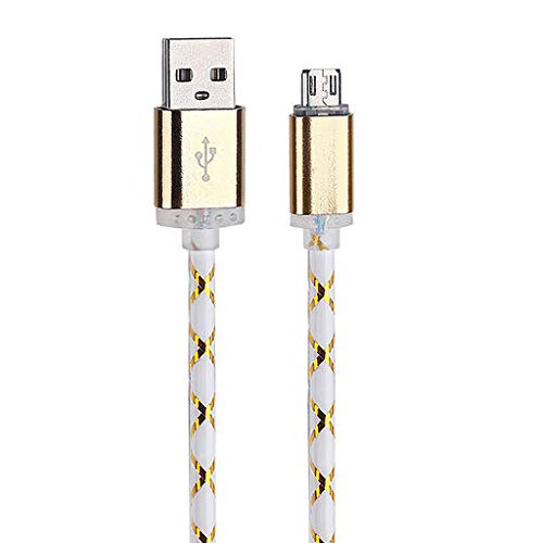 Christmas Best Gift!!!!Kacowpper LED Light Micro USB Charger Cable Fast Charging Cord for Android Phone