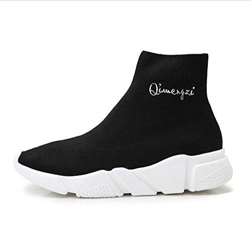 Grueso High Zapatos Zapatos Calcetines Bottom Fall Un Ayuda Casual De New Ocasionales Sneakers 2018 Elástico Mujer Zapatos Planos BBFqz1