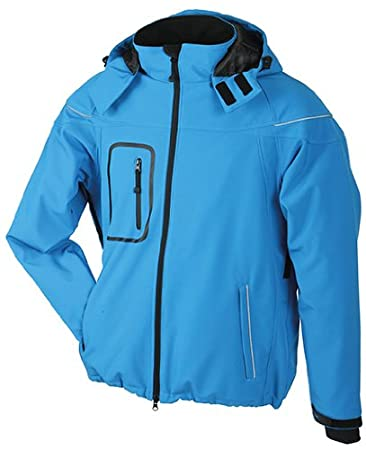 Men's Winter Softshell Jacket/James & Nicholson (JN 1000) S M L XL XXL Aqua