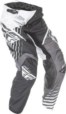 Fly Racing Unisex-Adult Kinetic Vector Pants (Black/White/Grey, Size 22)