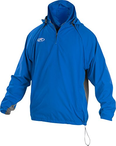 Rawlings Sporting Goods Mens Adult Jacket W Removable Sleeves & Hood, Royal, 2X by Rawlings