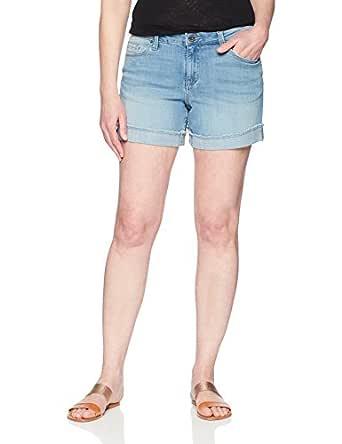 """Riders by Lee Indigo Women's Modern Collection Denim Ex-Boyfriend 5"""" Rolled Cuff Short, Light wash, 10 AVG"""