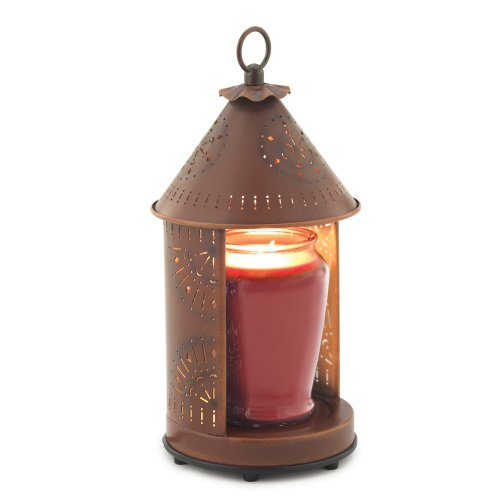 UPC 833245023967, Candle Warmers Etc. Tin Punched Candle Warmer Lantern- Rustic Tin Sunshine
