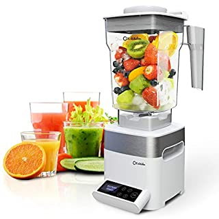 ODA KITCHEN Professional Blender, Countertop Blender for Shakes and Smoothies, 1450w High Powered Blender, 39000RPM High Speed Blunt Blade, 50oz Low Profile Container, Smoothie Maker, White