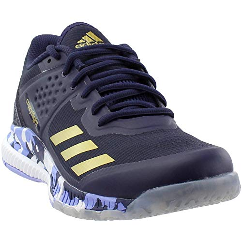 adidas Women's Crazyflight Bounce W Volleyball Shoe, Noble Ink/Metallic Gold/Chalk Purple, 6.5 M US