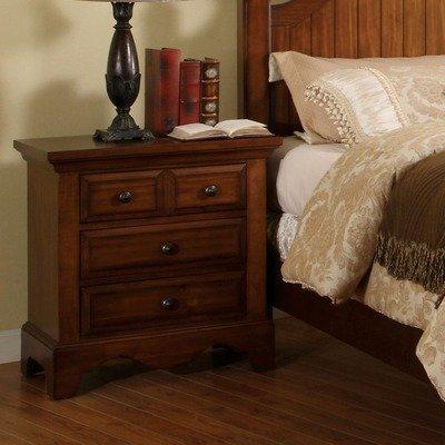 Furniture of America CM7888N Palm Coast Light Walnut Nightstands, 28.33