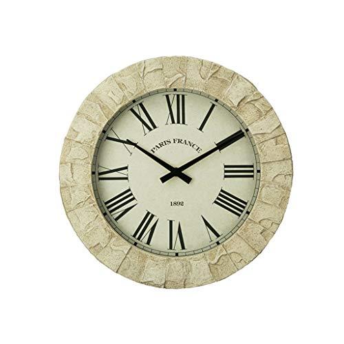 - ZLZGZ Imitation Stone Wall Clock, Artistic Creative Quartz Clock, Living Room Bar Cafe