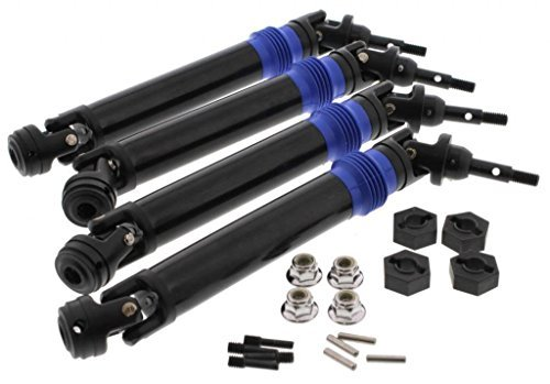 Traxxas 1/10 E-Revo BL* AXLE DRIVE SHAFTS, 14mm HEX WHEEL HUBS & LOCK NUTS *