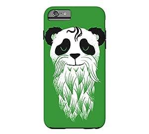 Panda barba iPhone 6 Plus Up verde Funda - diseño de Lou patrou